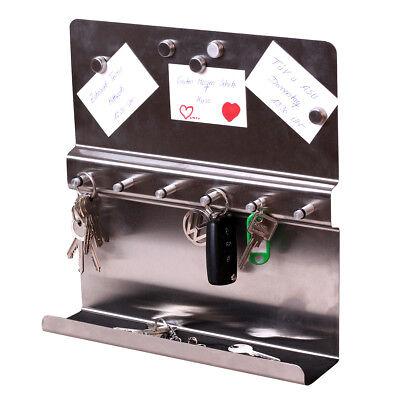 Schlüssel Brett Edelstahl Memo Magnet Bord Ablage Schlüsselboard Schlüsselkasten