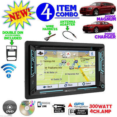 05 06 07 MAGNUM CHARGER GPS NAVIGATION DVD RADIO STEREO CAR DASH KIT DOUBLE DIN