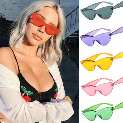 Women Sunglasses Triangle Without Frame Cute Trendy Colorful Girl Sun (Sunglasses Without Sun)