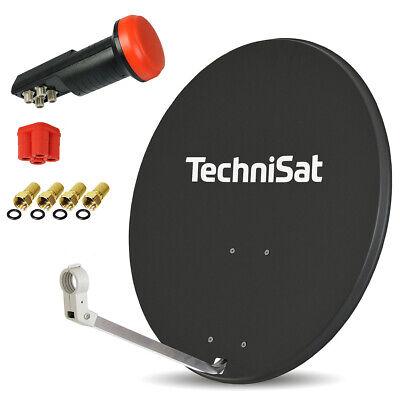 TechniSat HDTV HD Digital SAT Anlage 80cm Spiegel Schüssel Quad LNB 4 Teilnehmer