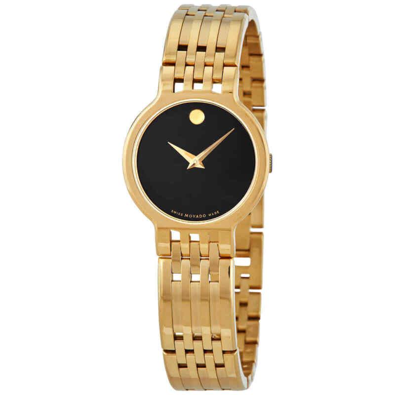Movado Esperanza Quartz Black Dial Ladies Watch 0607149