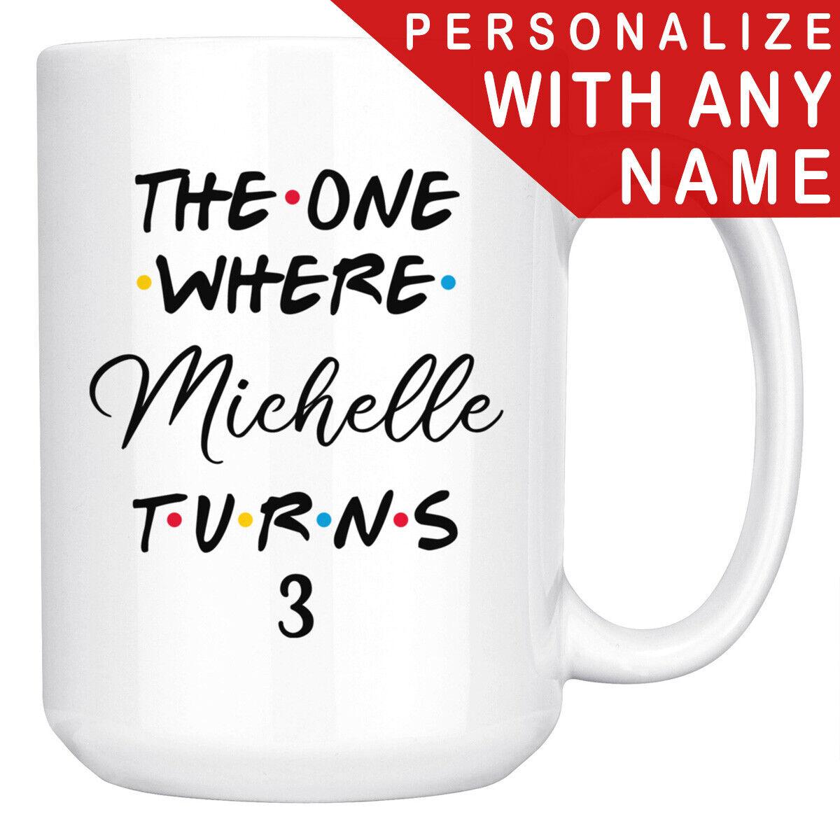 Personalized 3rd Birthday Mug, Happy 3rd Birthday Party, 3 Y