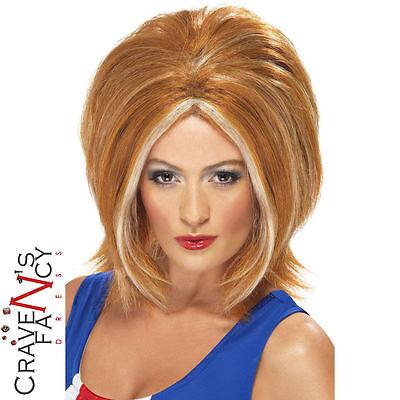 Spice Girl Kostüm (Ginger Spice Wig Girl Power Geri 1990s Girls 90s Fancy Dress Costume Pop Star)