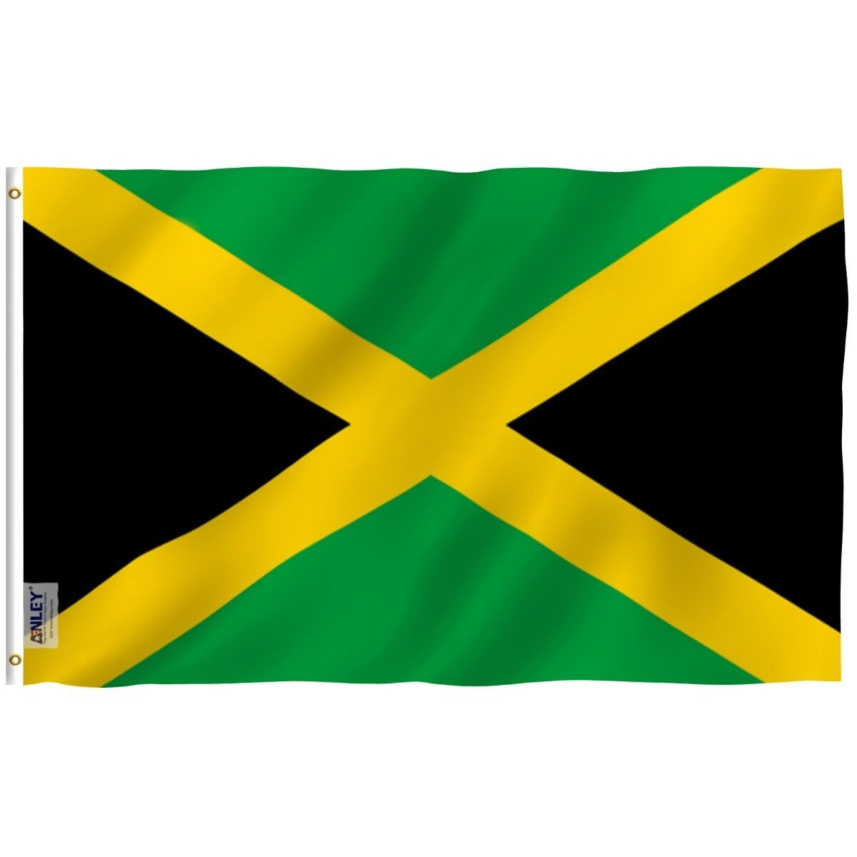 Anley Fly Breeze 3x5 Foot Jamaica Flag Jamaican National Fla