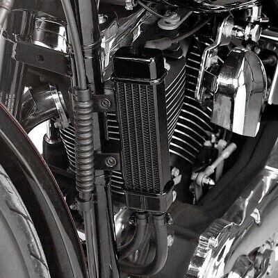 Slimline Vertical Frame Mount Oil Cooler Jagg 750-1200 For 84-19 Harley
