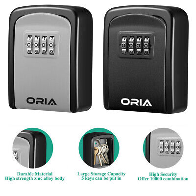 Wall Mount 4digit Combination Key Lock Box Safe Security Storage Case Organizer