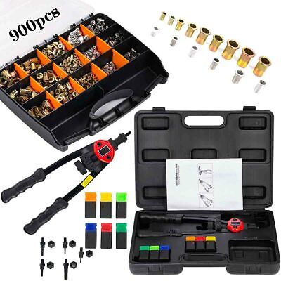 Hand Insert Riveting Tool Sets Nut Sert Kit Metric Mandrels 900pcs Rivet Nut Us