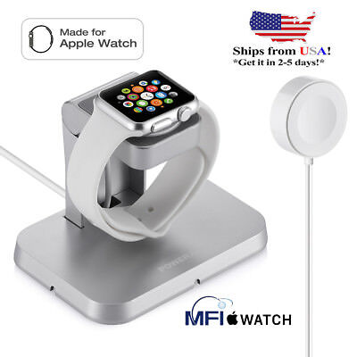 For Apple Watch iWatch 38mm /42mm Magnetic Charger Charging Cable & Charge Stand