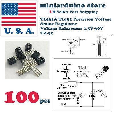 100pcs Tl431acl Tl431 Precision Shunt Regulator To-92 High Quality