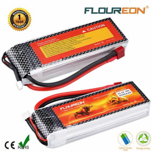 Floureon 3S 11.1V 4500mAh 30C LiPo Battery Pack for RC Cars