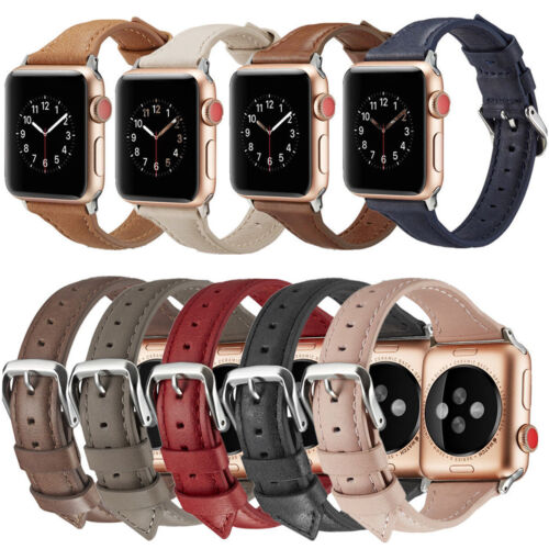 genuine leather wrist band strap for apple