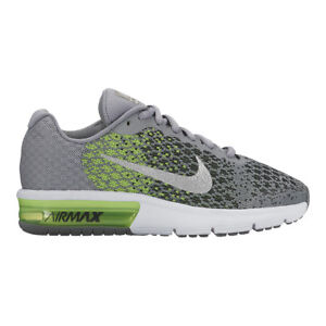 98c17fcd7d Nike Air Max Sequent 2 GS II Grey Green Kids Running Shoes SNEAKERS ...