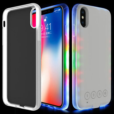 - Light Up Music LED Phone Glow Case Cover  For iPhone X 8 Plus 6 7 Plus