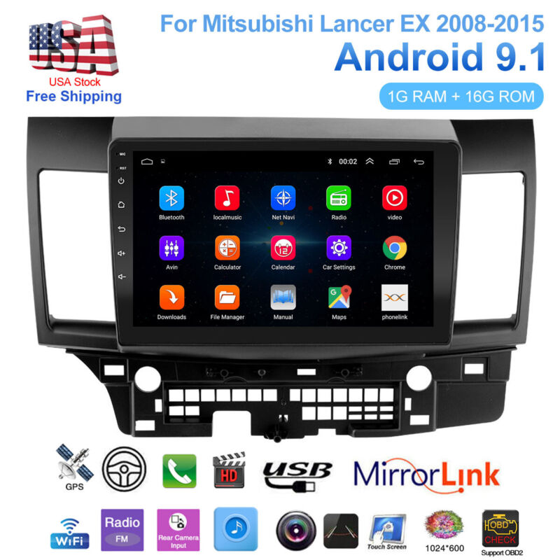 """10.1"""" Android 9.1 Car Stereo Radio GPS Player For Mitsubishi Lancer EX 2008-2015"""