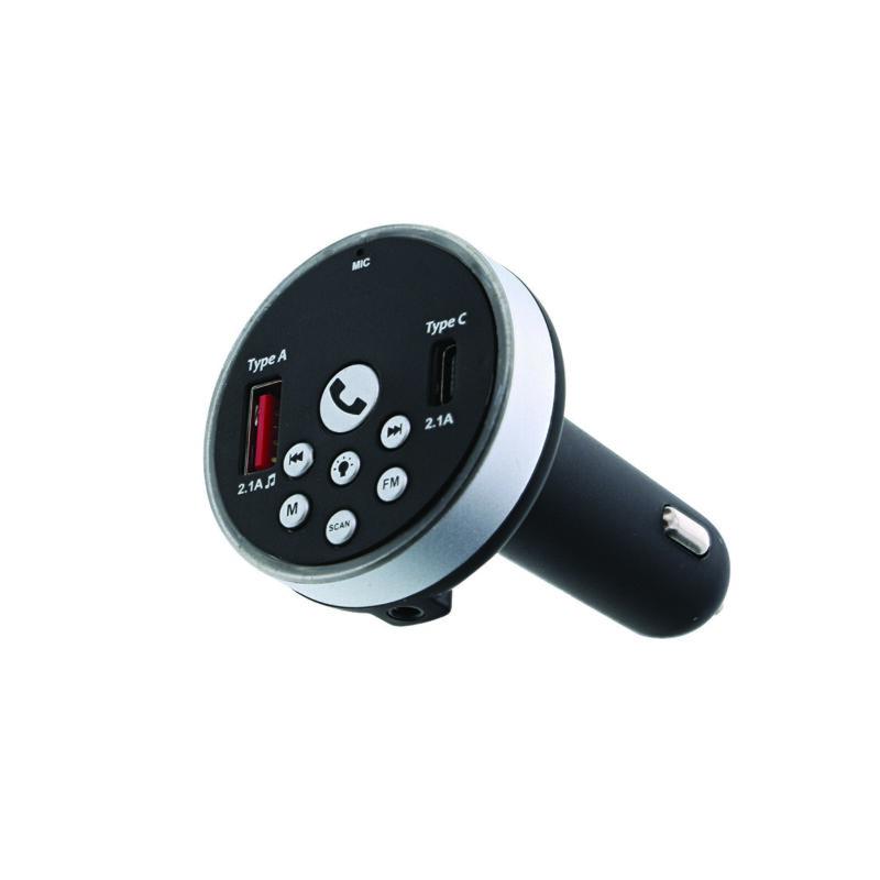 Monster WFM9-1002 Bluetooth FM Transmitter w/ LED Accent Ring - Stream Audio GA