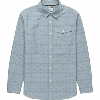 The North Face Men Long-Sleeve Northwatch Print Shirt California Chambray Blue S