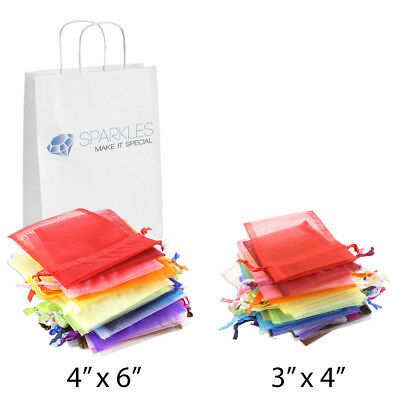 Favor Bags (Organza Wedding Favor Bags 3x4 4x6 Party Decoration Gift Candy Pouches 22)
