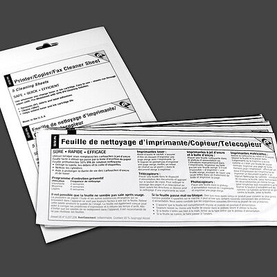 Printer/Copier/Fax Cleaner Sheets