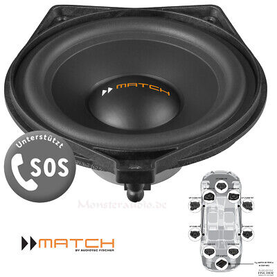 MATCH UP S4MB-CTR 120 Watt Premium Center-Lautsprecher für Mercedes C E GLS