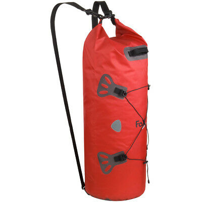Fox Outdoor Waterproof Duffle Bag DRY PAK 60 Taped Roll Knapsack Storage Red Quality Design 91c96