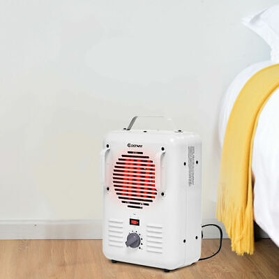 Electric Portable Utility Space Heater Thermostat Room 1500W Air Heating Wall Heat Wall Thermostat