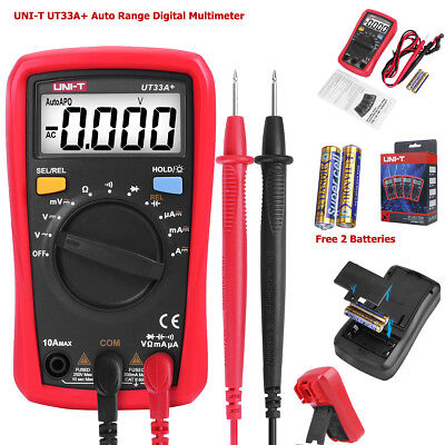 Uni-t Ut33a Palm Size Auto Range Digital Multimeter Acdc Voltage Tester Meter
