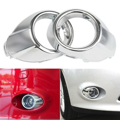 Chrome Bumper Fog Light Lamp Cover Grille Trim Bezels for Ford Focus 2012-2014