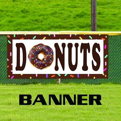 Donuts Retail Outdoor Advertising Vinyl Banner Sign Cafe Shop Stand Restaurant
