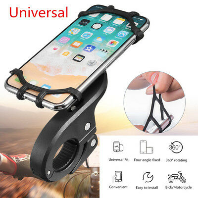 360° Rotation Motorcycle Bicycle Bike MTB Handlebar Silicone Phone Mount