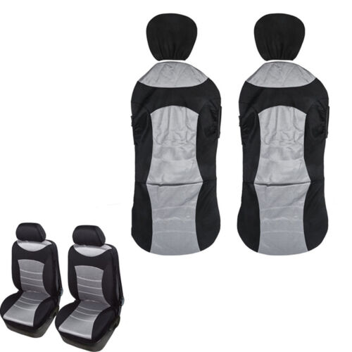 3D Mesh Cloth Car Front Seat 2 Protective Covers Reserved Airbag Eject