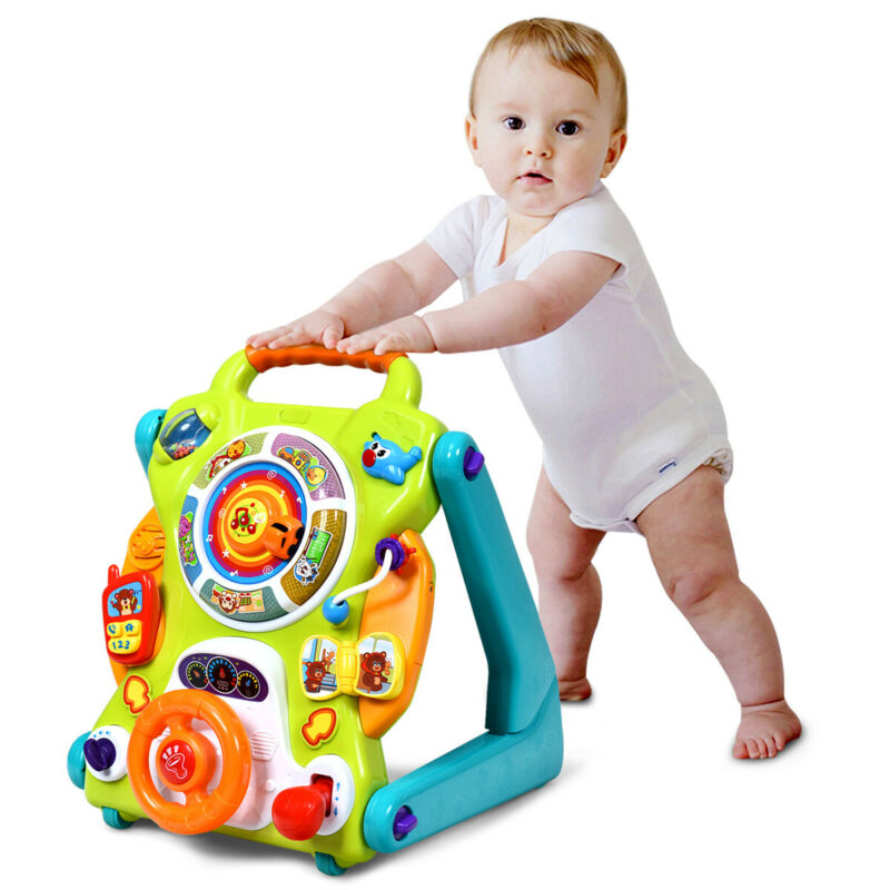 HoneyJoy 3 in1 Kids Sit to Stand Learning Walker For Toddlers  Gift Musical Fun