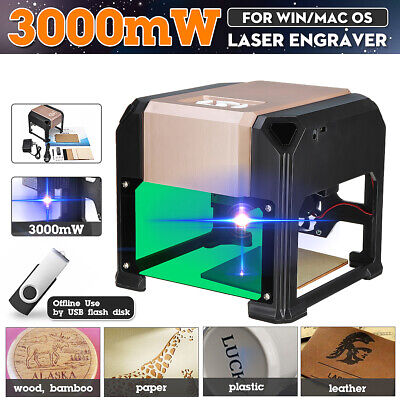 3000mw Usb Mini Laser Engraver Diy Mark Logo Printer Cutter Carver Engraving