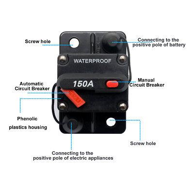 DC12V-42V 30-150A Auto Audio Inline Leistungsschalter Sicherung Manuell Reset Dc 12v Auto
