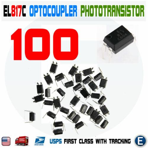 100pcs PC817 EL817C LTV817 PC817-1 80V 20mA OPTOCOUPLER Phototransistor DIP-4
