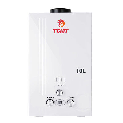 - 10L PROPANE GAS HOT WATER HEATER 2.6GAL INSTANT BOILER TANKLESS HOME w/SHOWER US