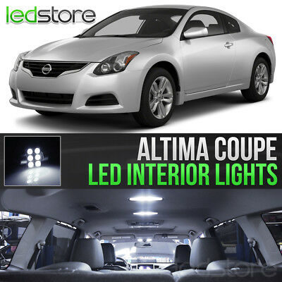 White LED Lights Interior Kit Package Bulbs For 2008-2013 Nissan Altima Coupe for sale  Greendale