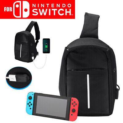 For Nintendo Switch Backpack Travel Bag Protective Carrying Case USB Charging US