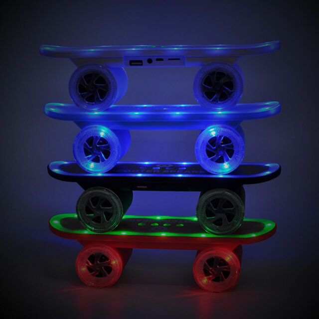 SKATEBOARD SCOOTER LED LIGHTS BLUETOOTH WIRELESS SPEAKER FOR ALL DEVICES