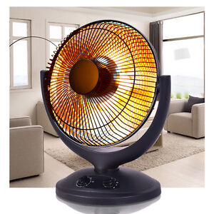 Electric Parabolic Oscillating Infrared Radiant Space Heater W/Timer Home office