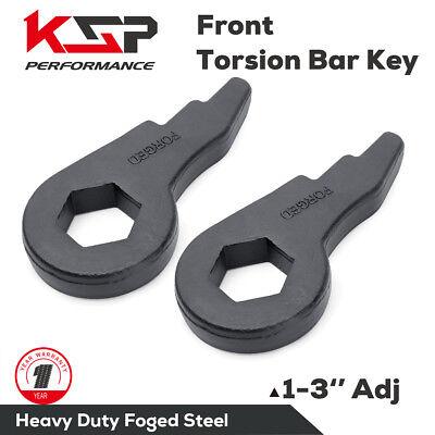 Torsion Bar KeyS Forged Lift Kit 1-3'' Silverado Sierra 1500 2500 3500 HD 8 lug Chevrolet Torsion Keys
