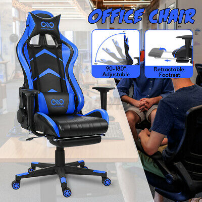 Office Chair Gaming Chairs Recliner Racing High-back Swivel Task Chair Footrest
