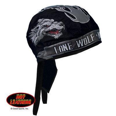 Lone Wolf No Club Grey Premium Head Wrap Sweatband Durag Mesh Lined Interior (Wolf Head Hat)