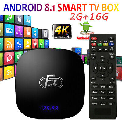 A95X F1 Android 8.1 TV Box Amlogic S905W 2GB/16GB 100M 2,4G WiFi Media Player Tv-box