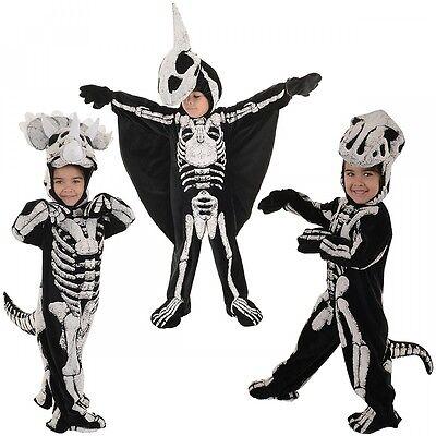 Dinosaur Costume Toddler Baby Kids Fossil Skeleton Halloween Fancy Dress (Zombie Baby Halloween Costume)