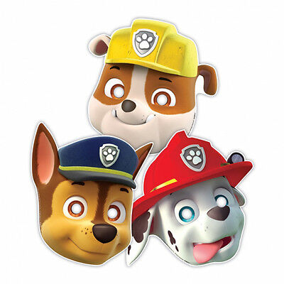 8 Paw Patrol Puppy Pets Childrens Birthday Paper Party Favor Masks