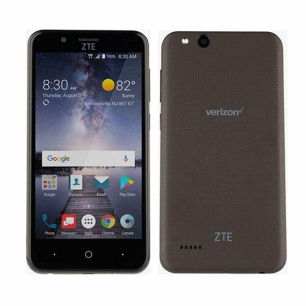 Android Phone - ZTE Z839 Blade Vantage Prepaid Smart Phone LTE Verizon Cell Phone Black