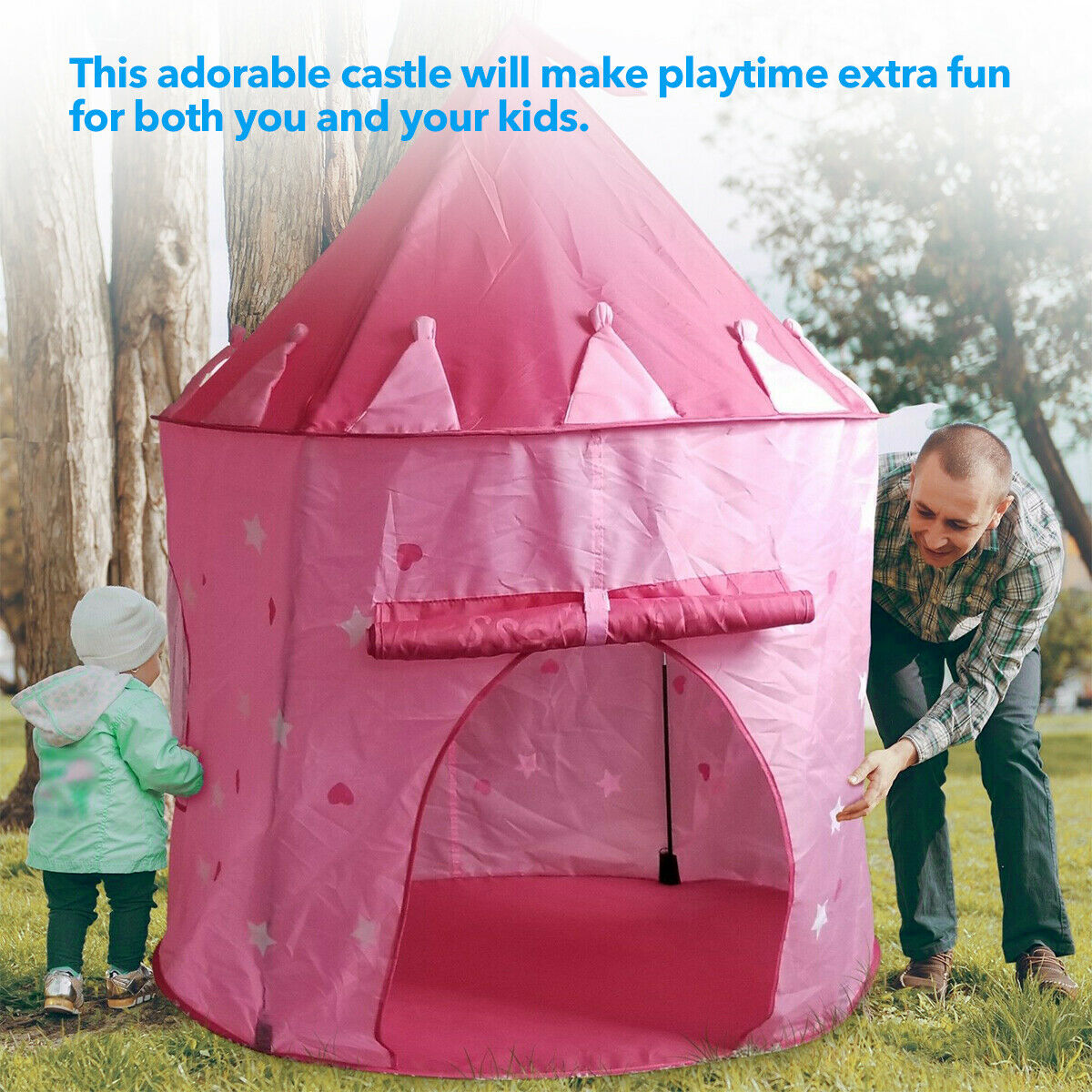 Play Tent Girls House Castle Foldable Princess Indoor Pink K