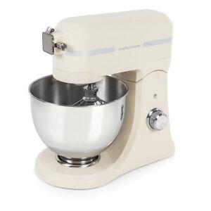 Morphy Richards 400009 Accents Premium DieCast Stand Mixer with 10 Speeds Cream