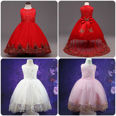 Little Girls Sequin Flower Ball Gown Party Wedding Tulle Princess Dress for - Little Girls Dresses For Weddings