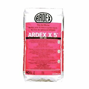 2 bags of Ardex X5 Mortar and 4x Laticrete 253 Gold